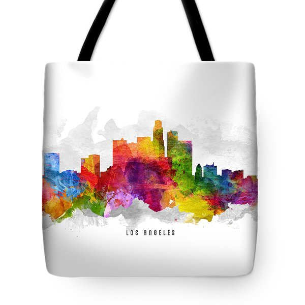 Los Angeles California Cityscape 13 Tote Bag by Aged Pixel