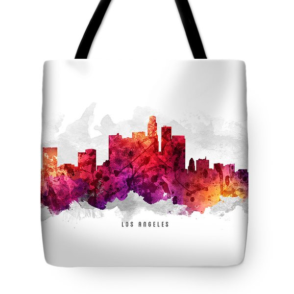 Los Angeles California Cityscape 14 Tote Bag by Aged Pixel
