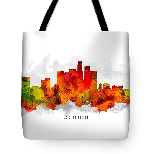 Los Angeles California Cityscape 15 Tote Bag by Aged Pixel