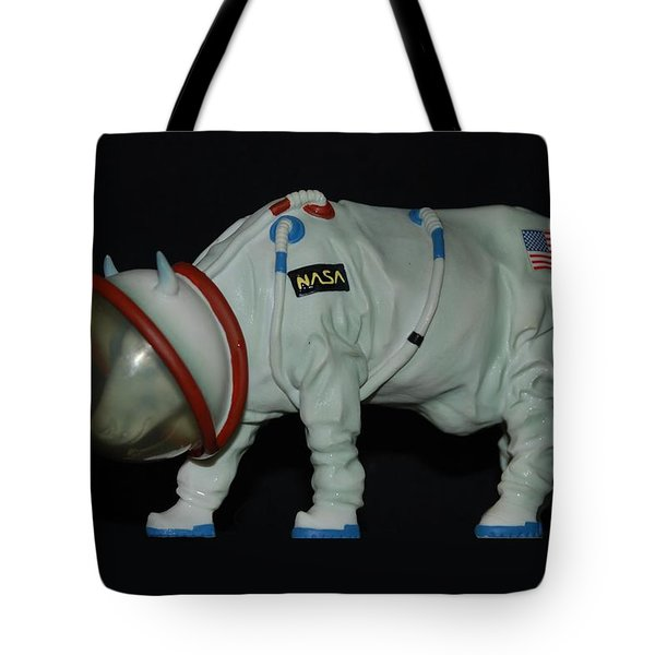 Maurice The Space Cow Boy Tote Bag by Rob Hans