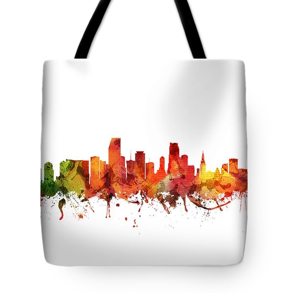 Miami Cityscape 04 Tote Bag by Aged Pixel