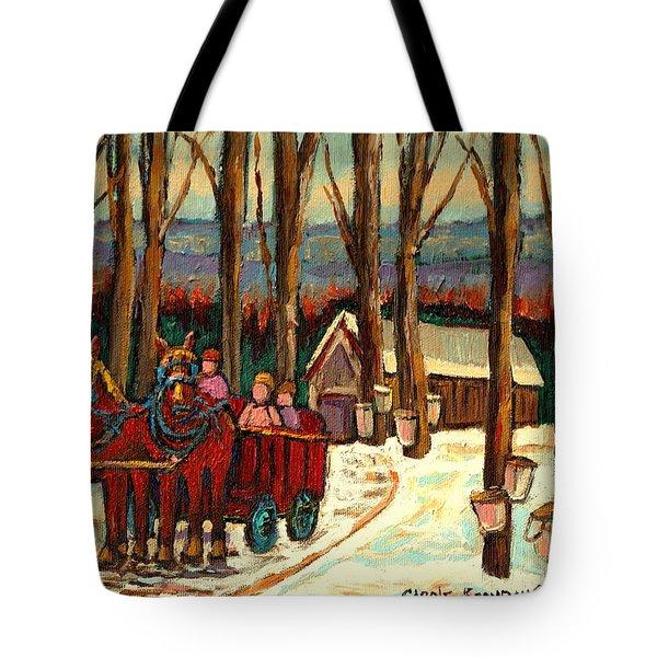 Sugar Shack Tote Bag by Carole Spandau