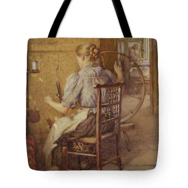 The Spinning Wheel  Tote Bag by Frederick William Jackson