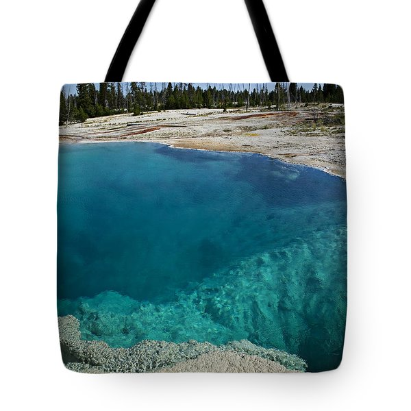 Turquoise hot springs Yellowstone Tote Bag by Garry Gay