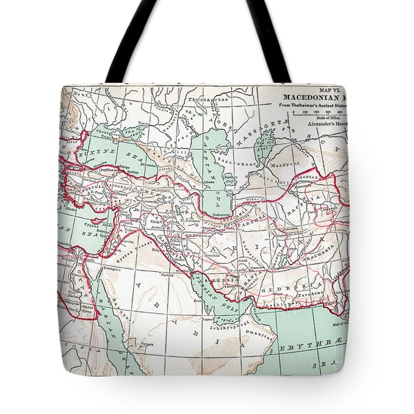 Map Of Macedonian Empire Tote Bag by Granger
