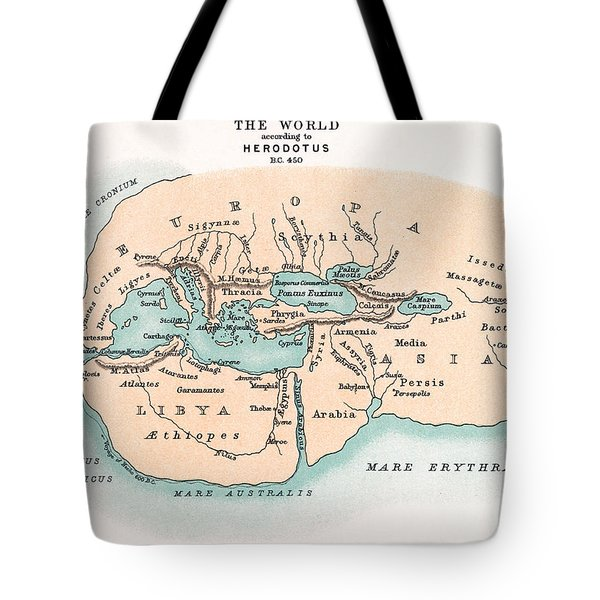 World Map Tote Bag by Granger