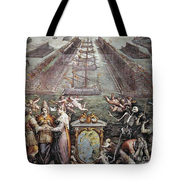 Battle Of Lepanto, 1571 Tote Bag by Granger