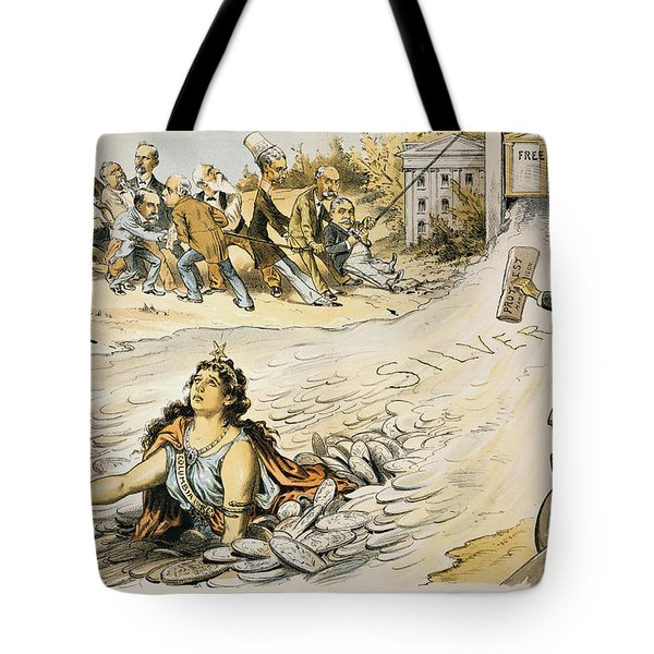 Free Silver Cartoon, 1890 Tote Bag by Granger