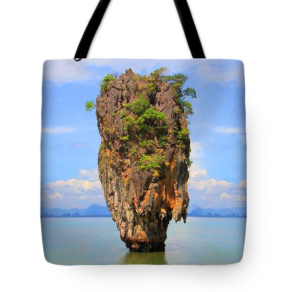 007 Island Tote Bag by Mark Ashkenazi