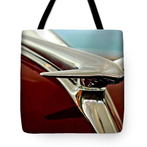 1938 Lincoln Zephyr Hood Ornament Tote Bag by Jill Reger