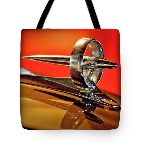 1947 Buick Roadmaster Hood Ornament Tote Bag by Jill Reger