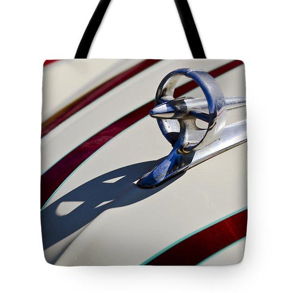 1949 Custom Buick Hood Ornament Tote Bag by Jill Reger