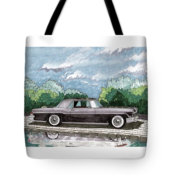 1956  Lincoln Continental Mk II Tote Bag by Jack Pumphrey