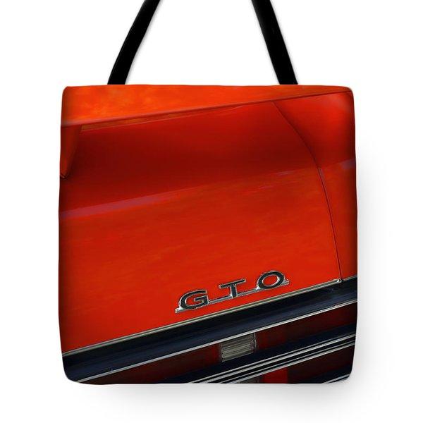 1969 Pontiac GTO The Judge Tote Bag by Gordon Dean II