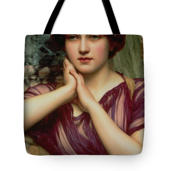 A Classical Beauty Tote Bag by John William Godward