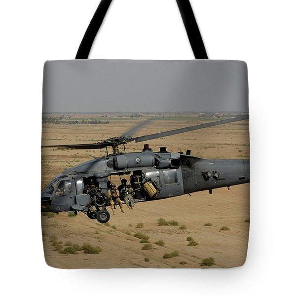 A U.s. Air Force Hh-60 Pavehawk Flies Tote Bag by Stocktrek Images
