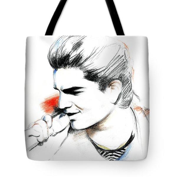 Adam Lambert Tote Bag by Lin Petershagen