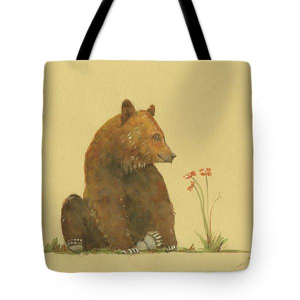 Alaskan Grizzly Bear Tote Bag by Juan Bosco