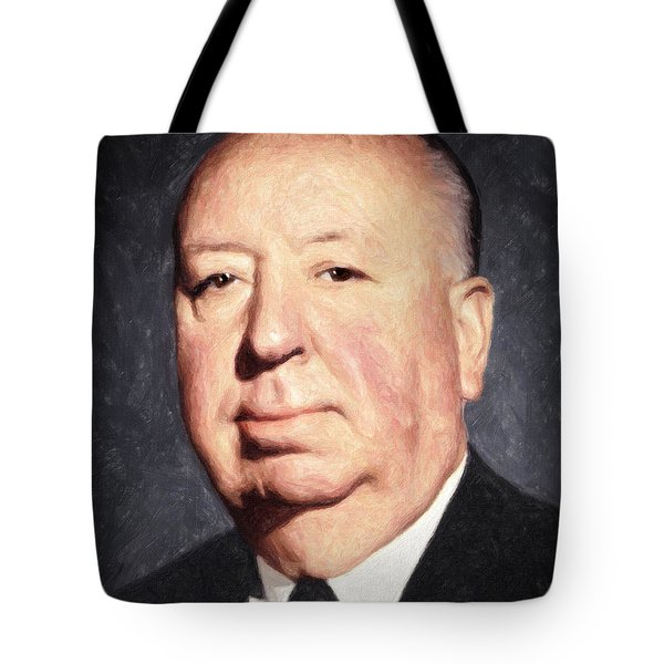 Alfred Hitchcock Tote Bag by Taylan Soyturk