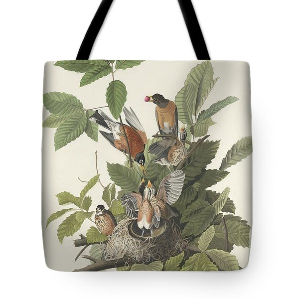 American Robin Tote Bag by John James Audubon