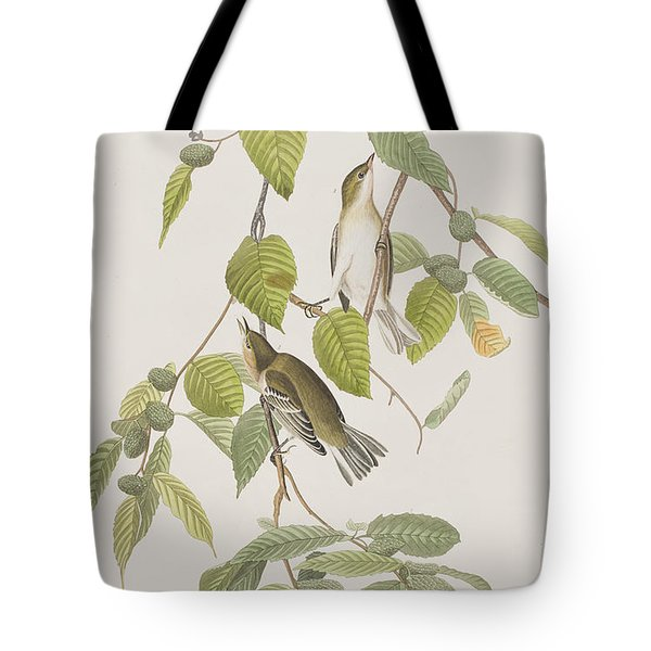 Autumnal Warbler Tote Bag by John James Audubon