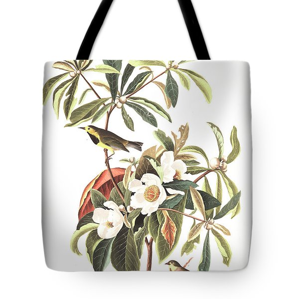 Bachman's Warbler  Tote Bag by John James Audubon