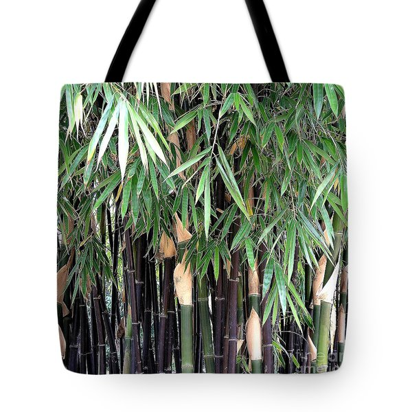 Black Bamboo Tote Bag by Mary Deal