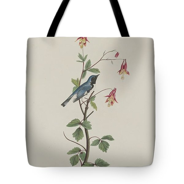 Black-throated Blue Warbler Tote Bag by John James Audubon