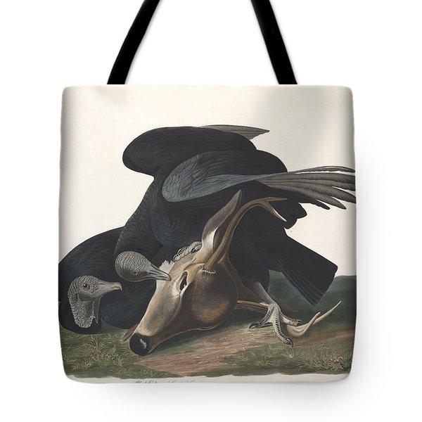 Black Vulture Tote Bag by John James Audubon