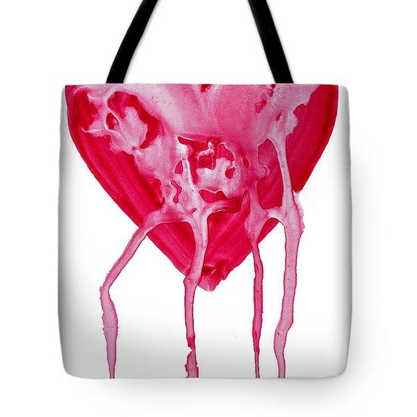 Bleeding Heart Tote Bag by Michal Boubin