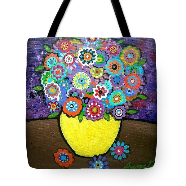 BLOOMS 6 Tote Bag by PRISTINE CARTERA TURKUS