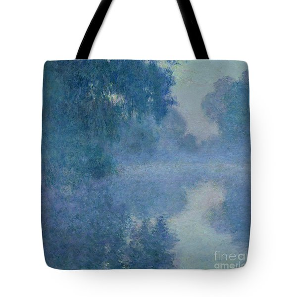 Branch Of The Seine Near Giverny Tote Bag by Claude Monet