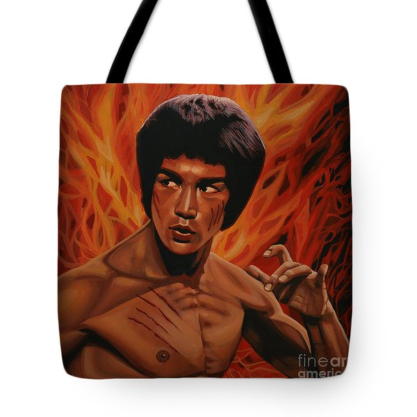 Bruce Lee Enter The Dragon Tote Bag by Paul Meijering