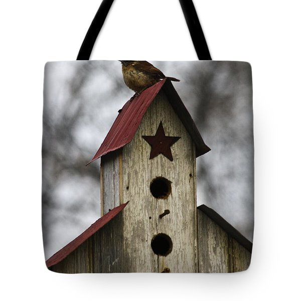 Carolina Wren Tote Bag by Teresa Mucha