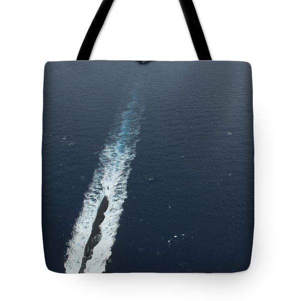 Carrier Strike Group Formation Of Ships Tote Bag by Stocktrek Images