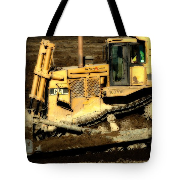 CAT Bulldozer . 7D10945 Tote Bag by Wingsdomain Art and Photography