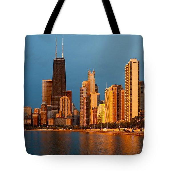 Chicago Skyline Tote Bag by Sebastian Musial