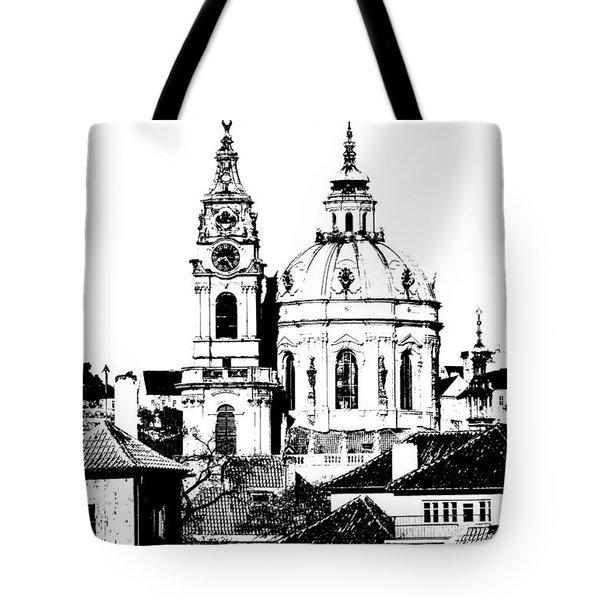 Church Of St Nikolas Tote Bag by Michal Boubin