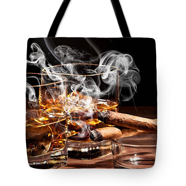 Cigar And Alcohol Collection Tote Bag by Marvin Blaine