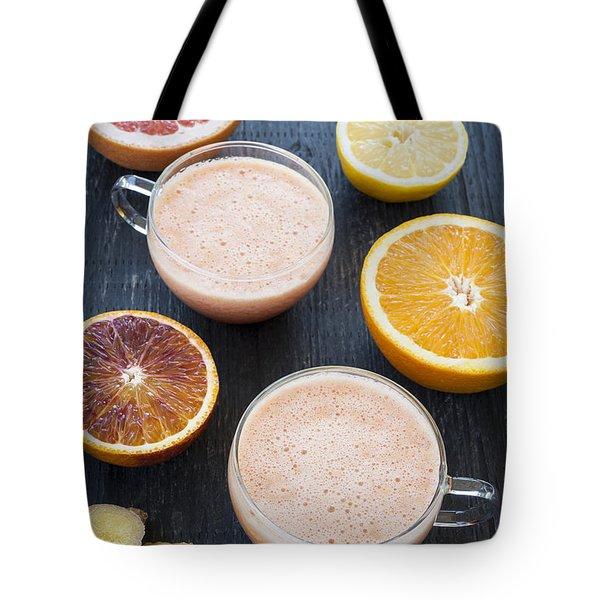 Citrus Smoothies Tote Bag by Elena Elisseeva