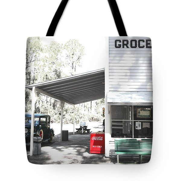 Classic chevrolet automobile parked outside the store Tote Bag by Mal Bray