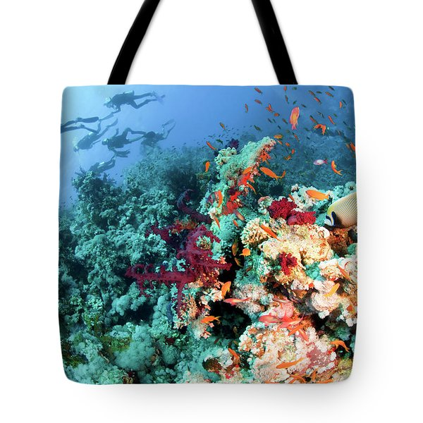 Coral Reef  Tote Bag by Hagai Nativ