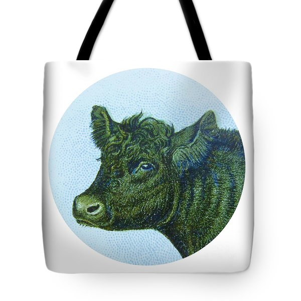 Cow I Tote Bag by Desiree Warren