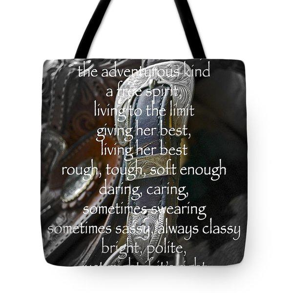 Cowgirl Attitude Tote Bag by Gwyn Newcombe