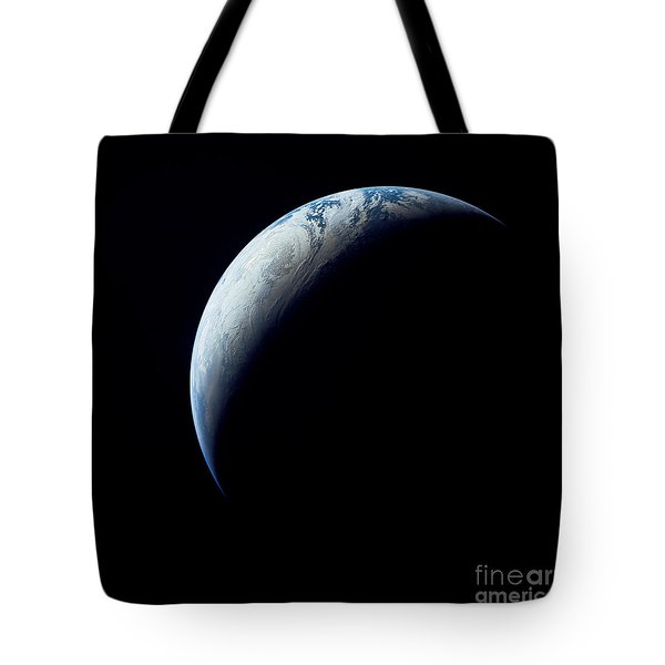 Crescent Earth Taken From The Apollo 4 Tote Bag by Stocktrek Images