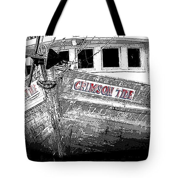 Crimson Tide Tote Bag by Michael Thomas