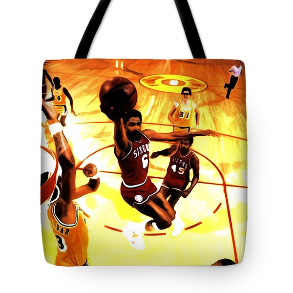 Doctor J Tote Bag by Brian Reaves
