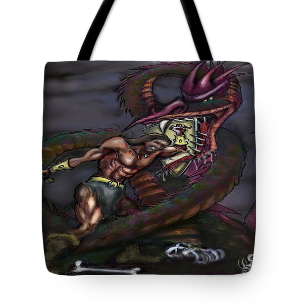 Dragonslayer Tote Bag by Kevin Middleton