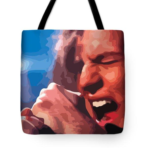 Eddie Vedder Tote Bag by Gordon Dean II