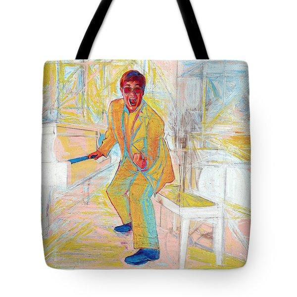 Elton John Tote Bag by Martin Cohen